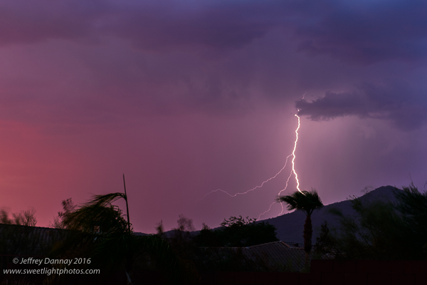 The lightning trigger worked great as it triggered the camera just before the lightning bolt.
