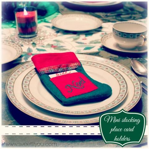 Mini stocking plae card holders Holiday party Price chopper sweetlilyou #Shop #HolidayAdvantEdge
