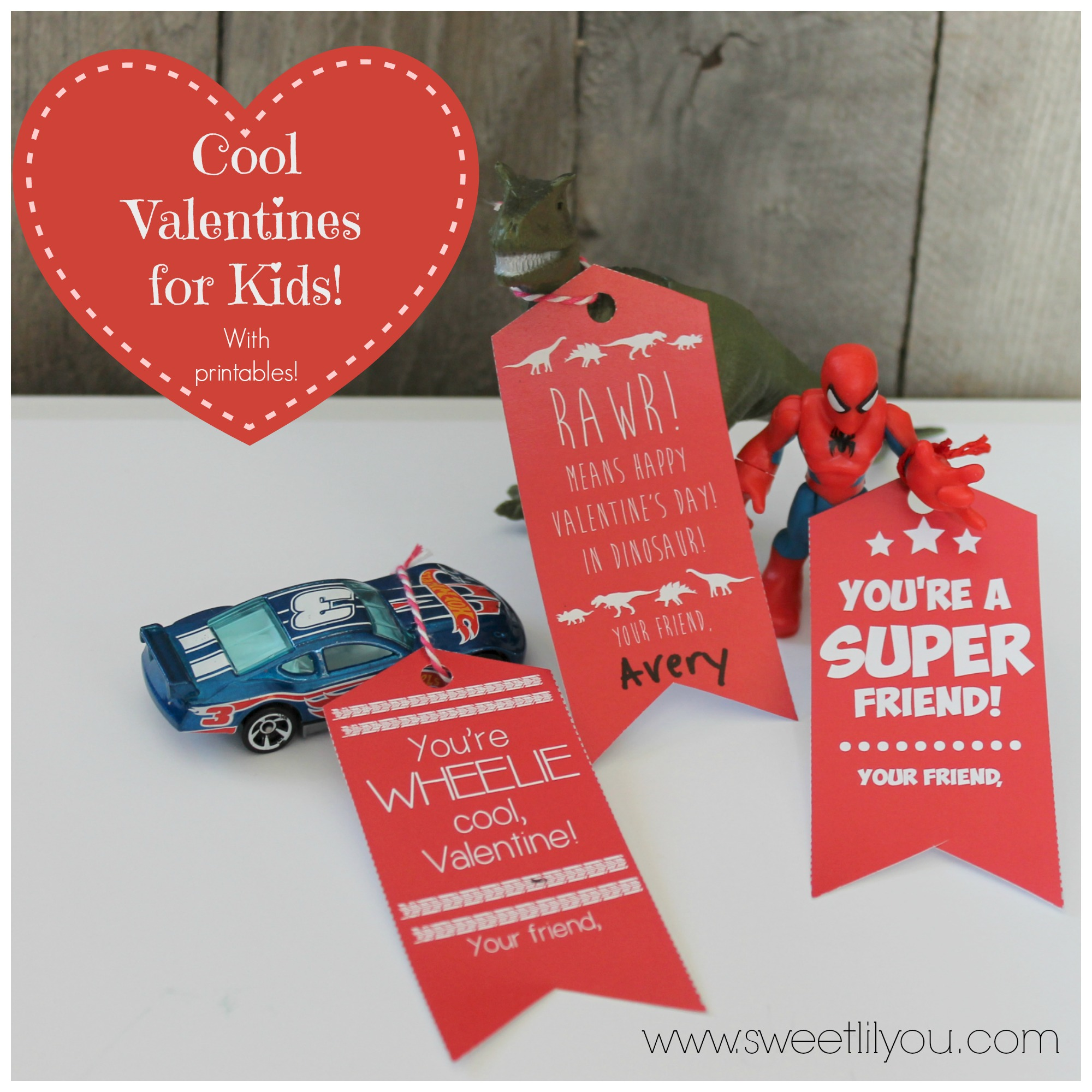 photograph relating to Printable Valentines for Kids named Neat Valentines for Boys Gals! Free of charge Printable Tags