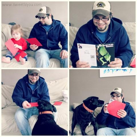 Daddy got Hallmark Valentines from all his girls!  #FunnyPetCards  #cbias