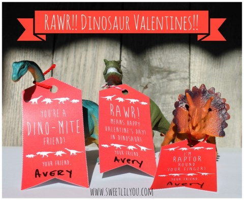 Dinosaur Toy Valentines for kids! Candy Free Valentines! Valentines for Boys!
