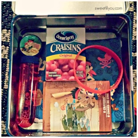 #DisneySide Jake and the Neverland Pirates goodie bag lunch box