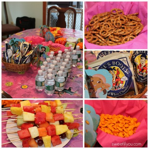 Snacks at our #DisneySide Prates and Pixies birthday party!
