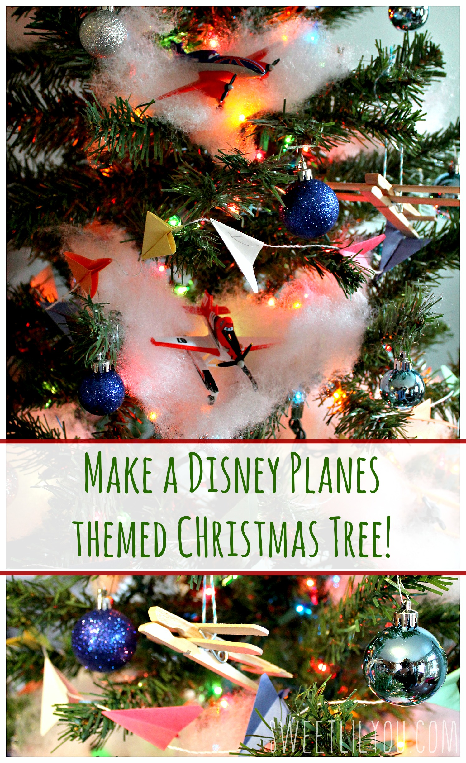 planestotherescue collectivebias diy disney planes themed christmas tree planestotherescue ad - Disney Themed Christmas Decorations