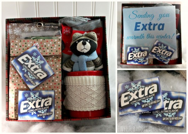 Extra warm winter care package #ExtraGumMoments #ad