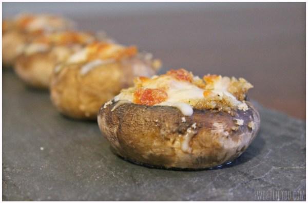 Pepperoni Stuffed Mushrooms - Appetizer #PepItUp #ad