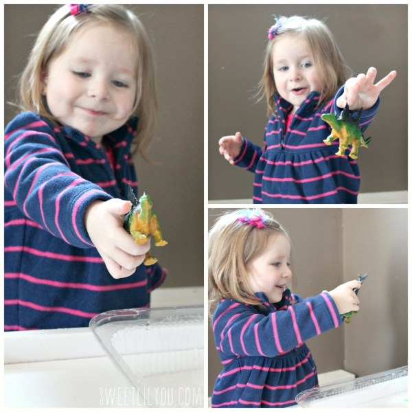 Dino Dig Ice toddler activity