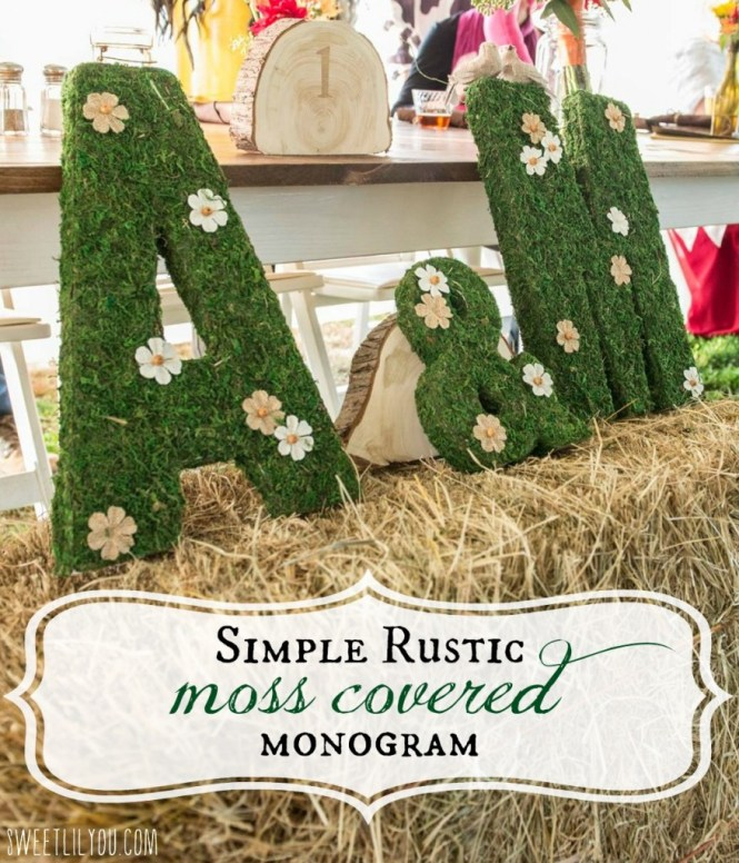 How To Make Diy Moss Letters For Your Wedding