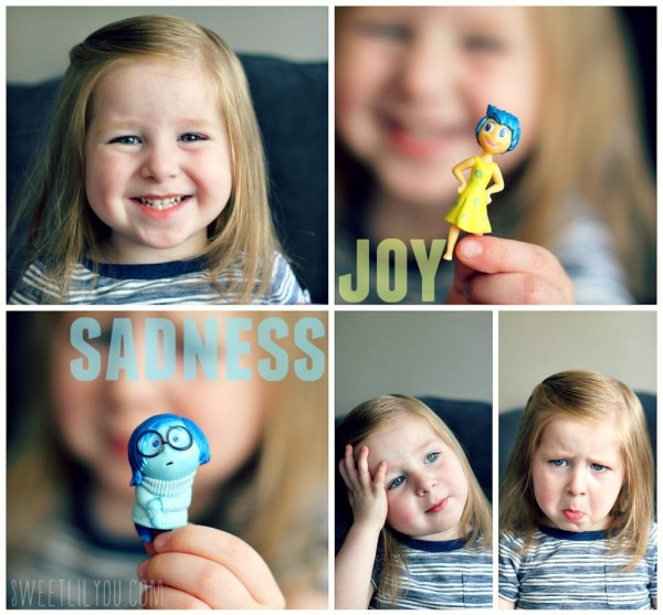 Acting out Joy and Sadness
