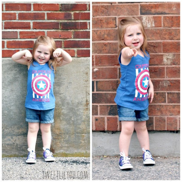 Captain American tank for girls