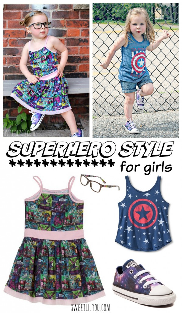 Superhero Style for girls - Sweet lil you - Microfashion Monday - Toddler Fashion - Kids style