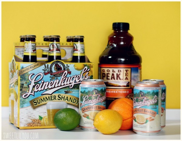 Leinenkugel's Shandy and Gold Peak Tea