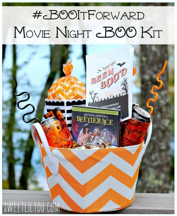 Movie Night BOO Basket! #BooItForward (ad)