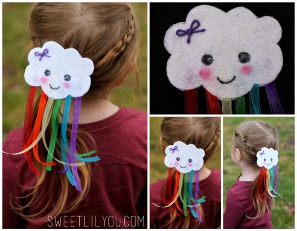 Cute Cloud and Rainbow Hair Clip