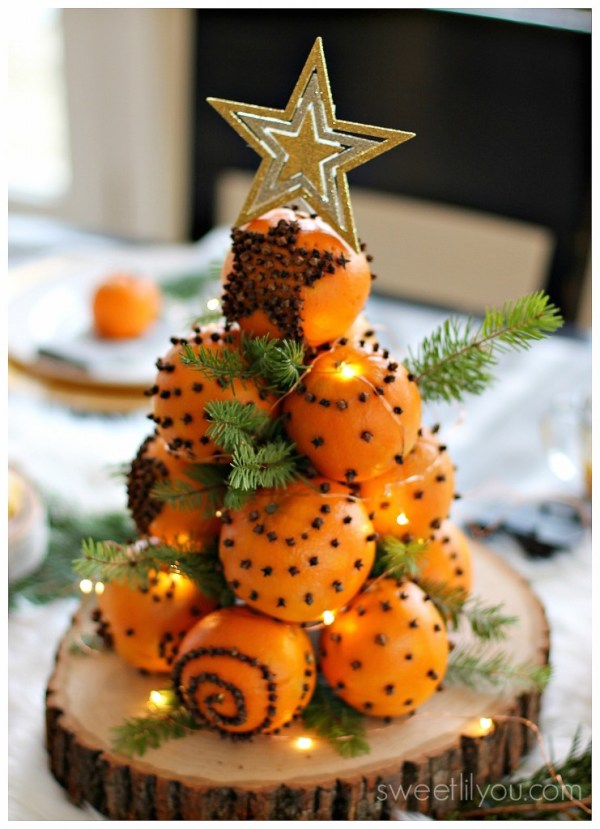 orange pomander christmas tree