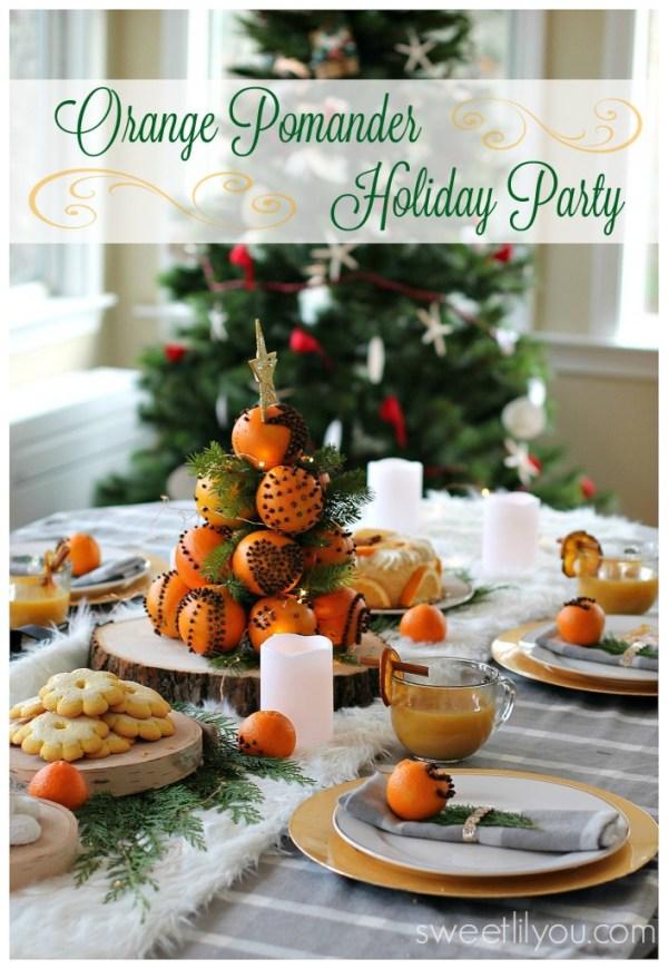 Orange Pomander Holiday Dessert Party