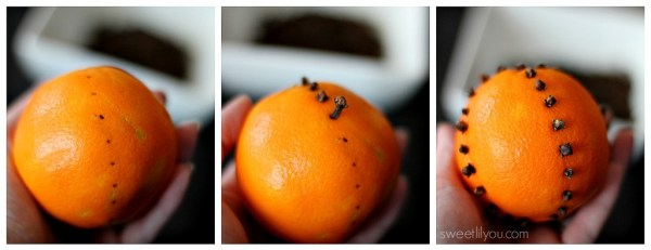 how to make orange pomander