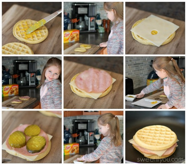 step by step eggo cuban sandwich