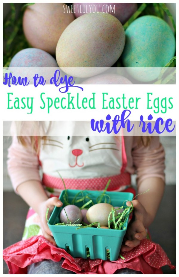 How To Dye Easy Speckled Easter Eggs with Rice