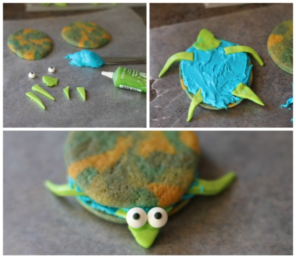 turtle cookie assembly