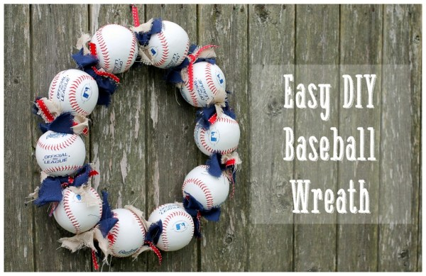 Easy Baseball Wreath Tutorial