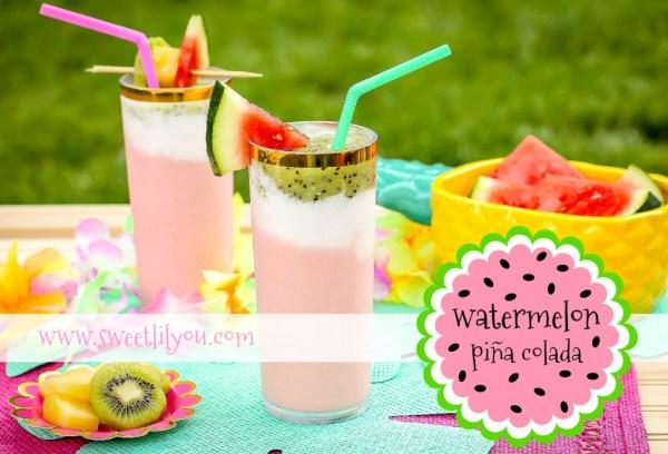 Easy Watermelon Pina Colada - Summer Drink