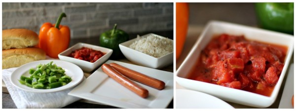 Ingredients for Stuffed Pepper Dogs