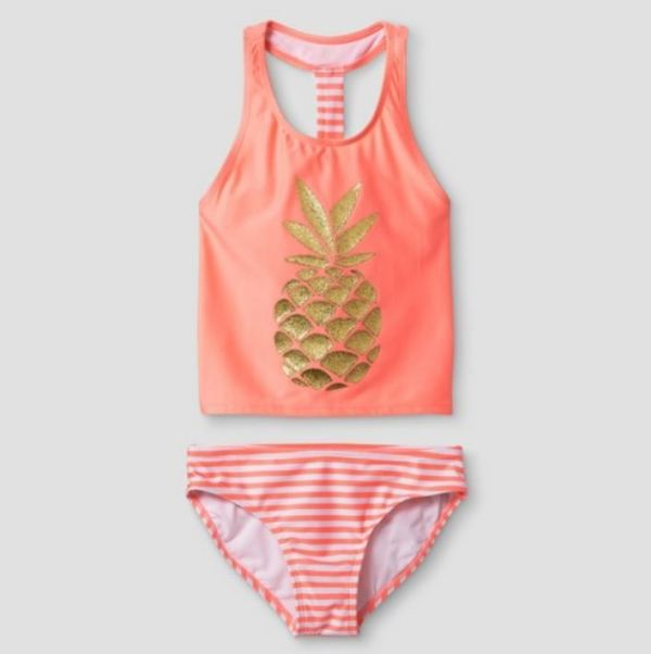 Pineapple Tankini Cat and Jack bathing suit