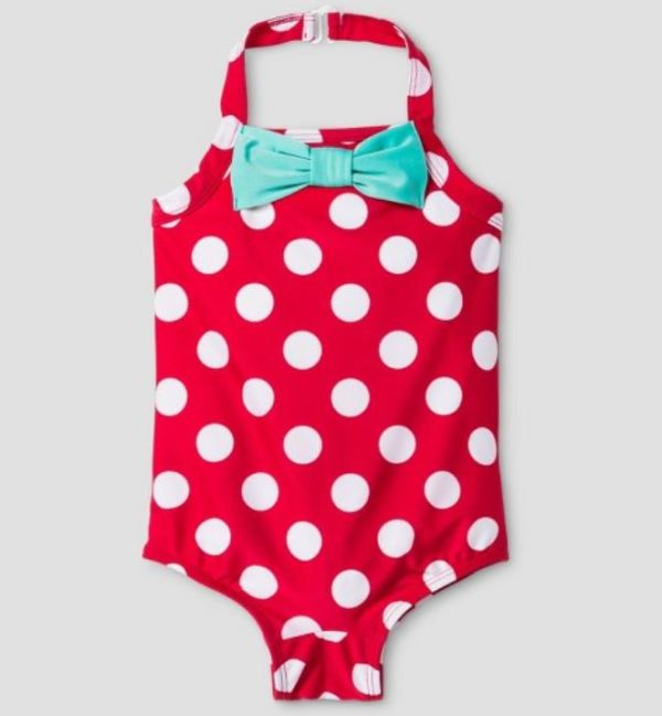 Polka Dot one piece halter swimsuit