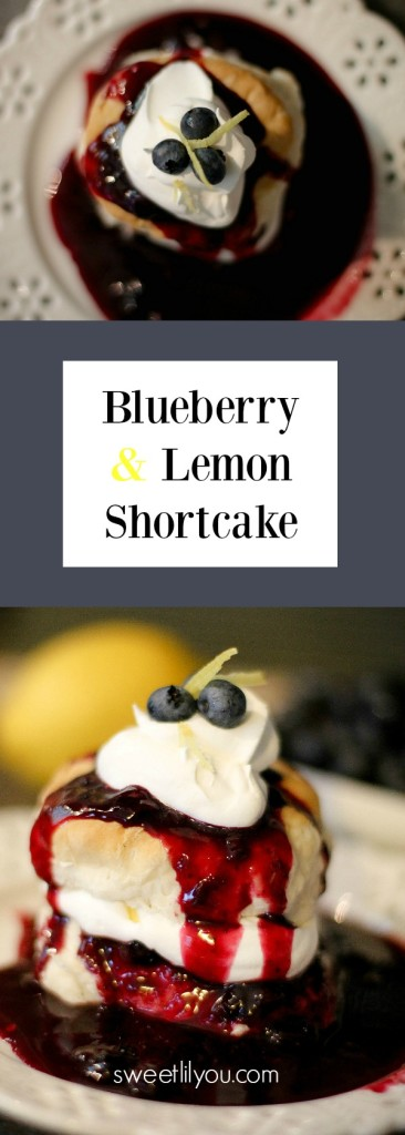 Blueberry Lemon Shortcake with homemade blueberry sauce