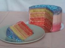Ombre cake de fresa
