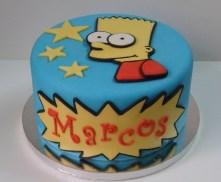 Tarta Bart Simpson