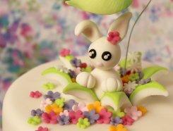 Conejito con flores