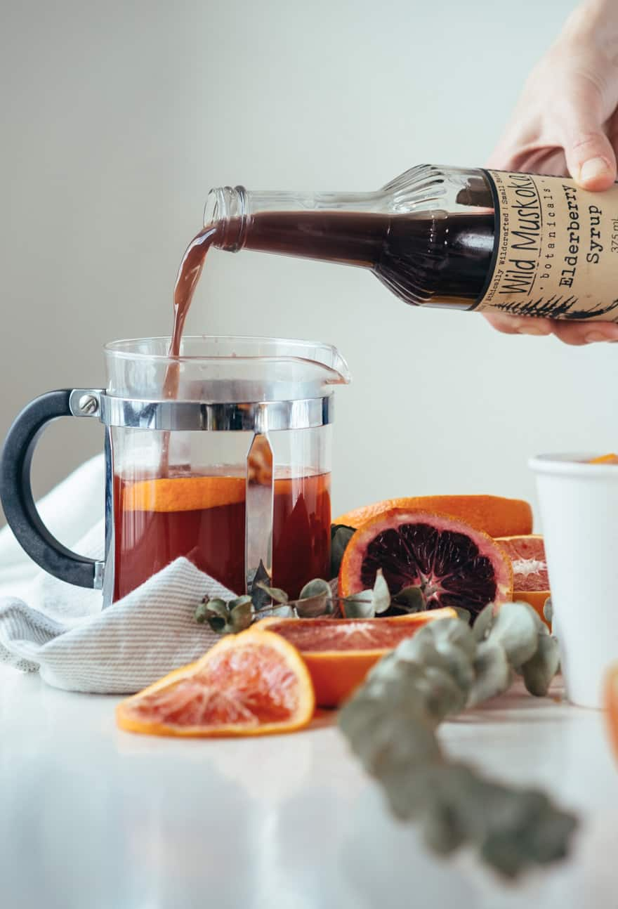 Blood Orange and Elderberry Elixir