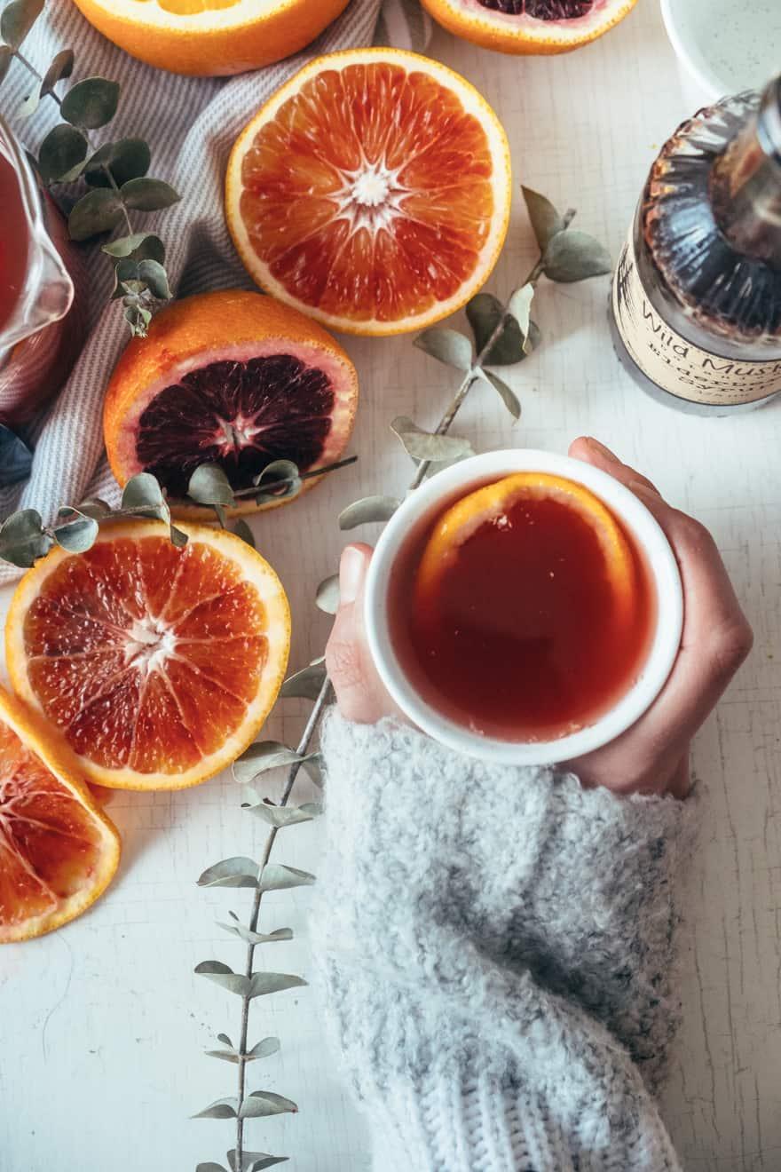 Blood Orange and Elderberry Elixir