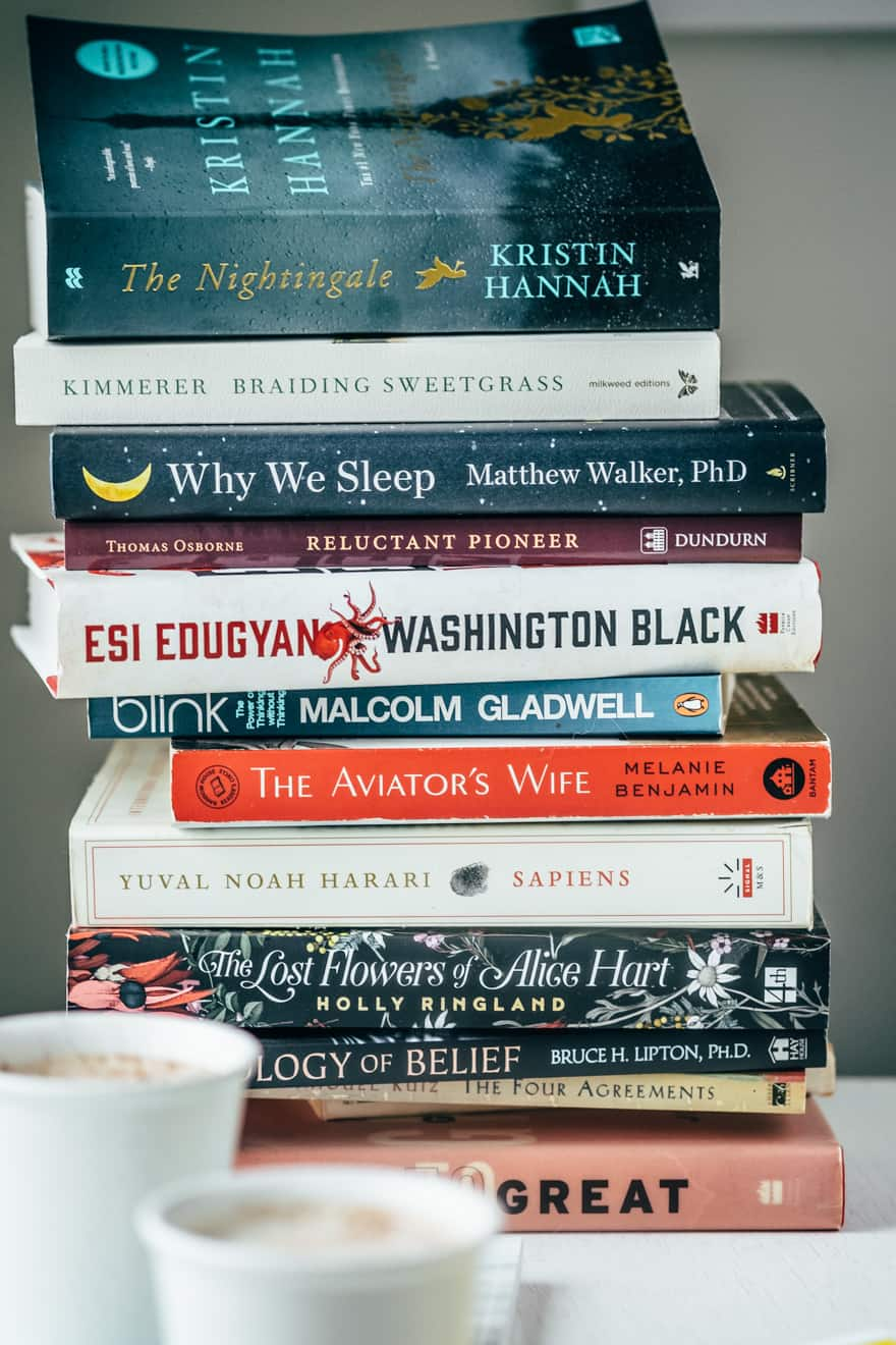 Vegan Caramel and Cardamom Latte and 2019 Book List