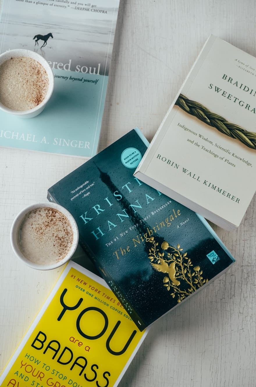 Vegan Caramel and Cardamom Latte and 2019 Book List