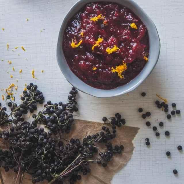 Elderberry Cranberry Sauce