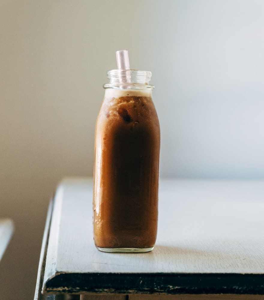 Iced Dandelion Latte with Maca Condensed Milk (paleo & Vegan)