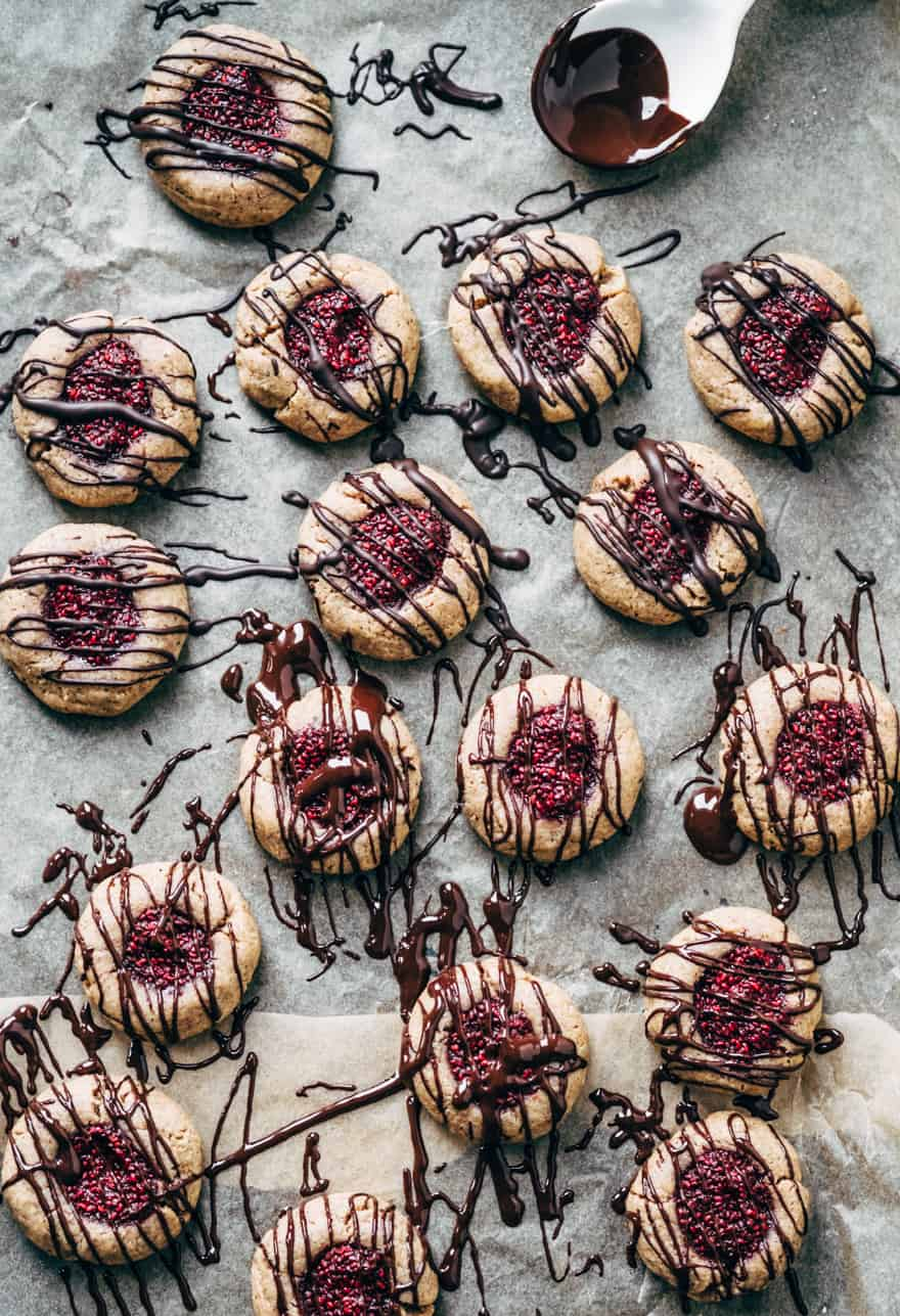 thumbprint cookies (paleo, vegan)