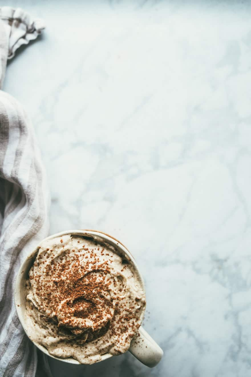 salted Almond Butter Coconut Whip #vegan #recipe