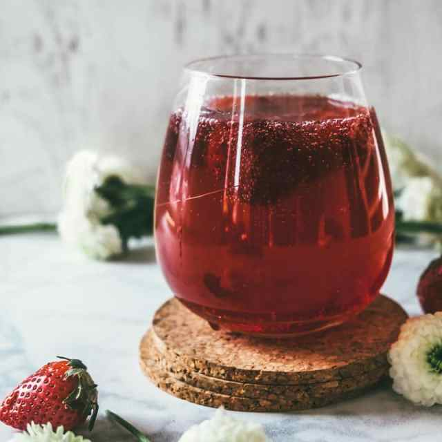 Strawberry Honey Hibiscus Shrub