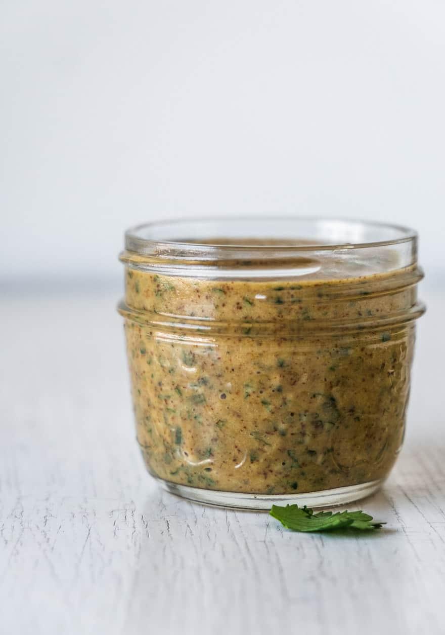 almond miso cilantro dressing #vegan