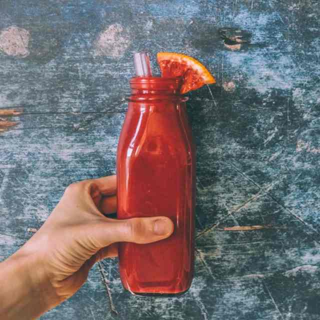 Blood Orange Cauliflower Smoothie