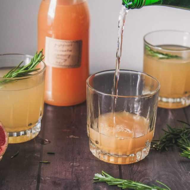 Grapefruit, Clementine & Rosemary Shrub