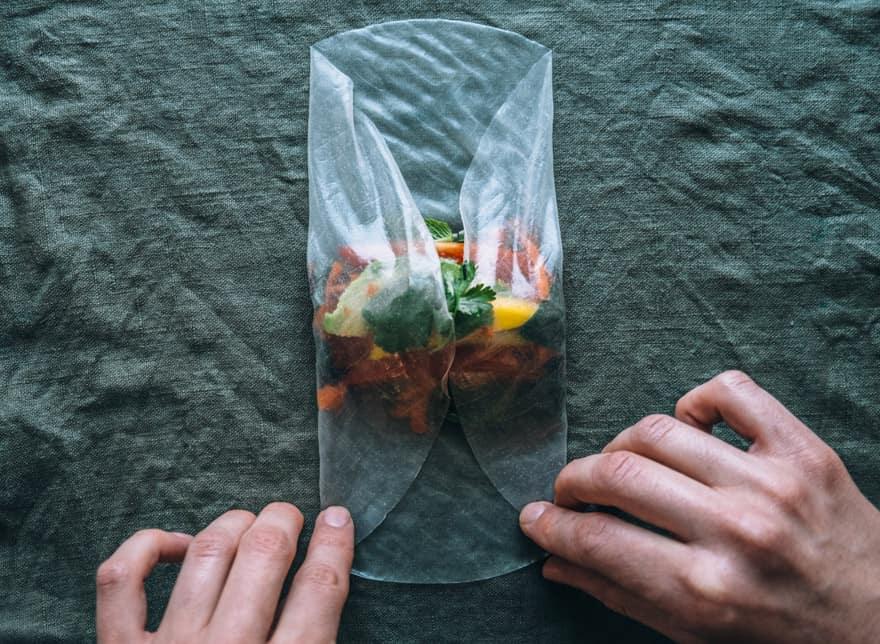 nasturtium fresh rolls