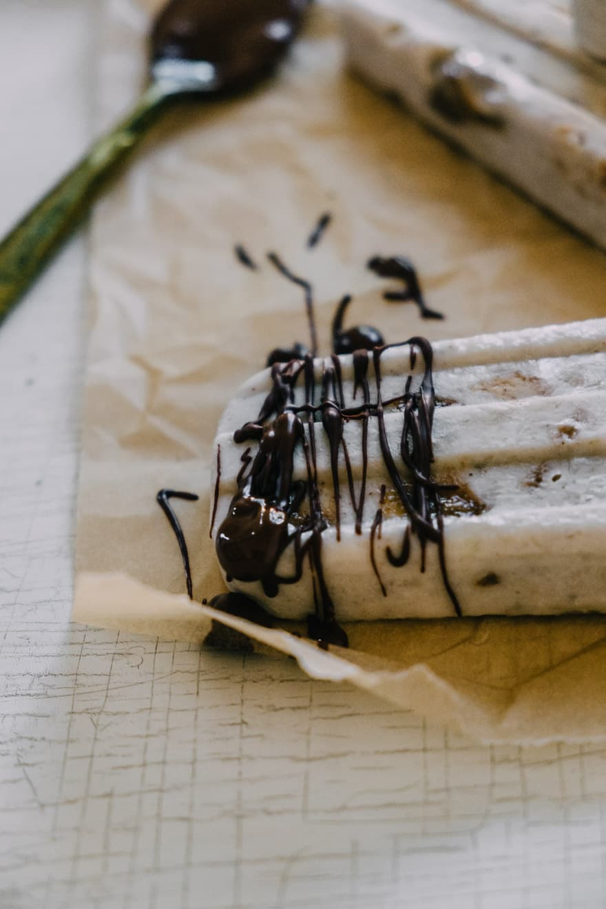 roasted banana popsicles #vegan #paleo