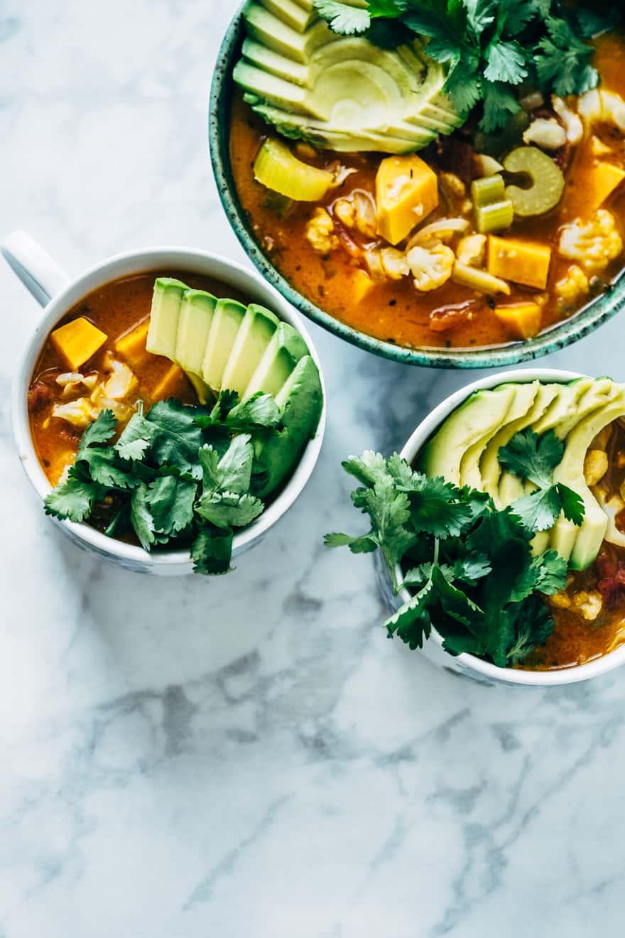 chipotle vegetable soup (vegan, paleo, whole30)