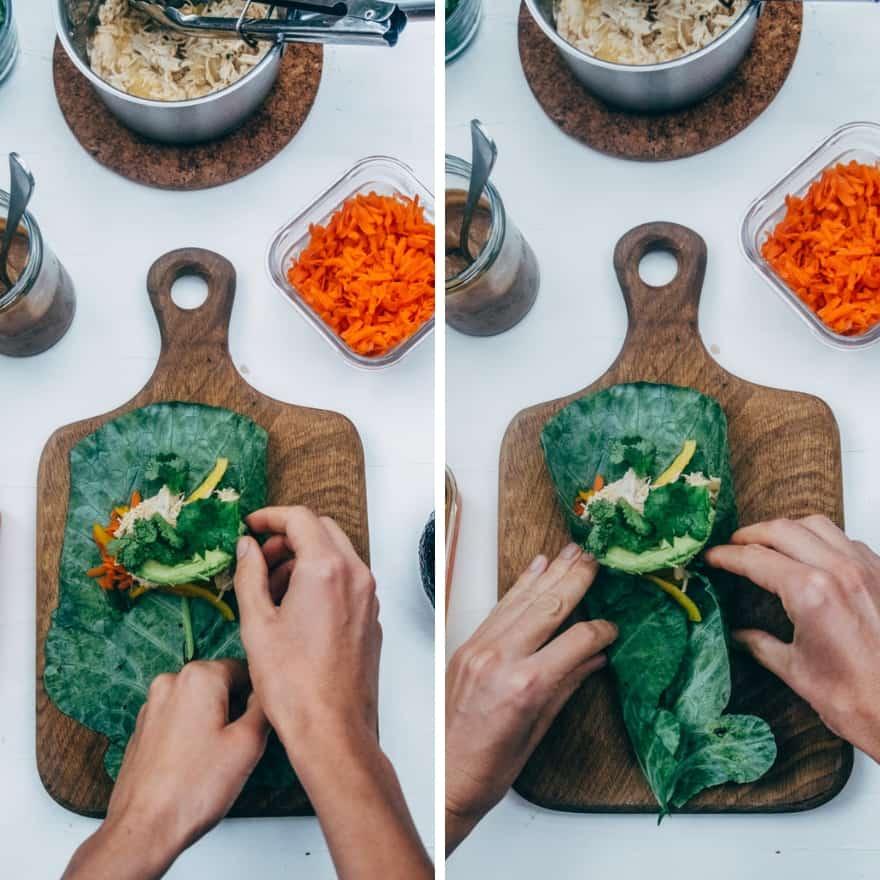 Thai chicken collard wraps #whole30 #paleo