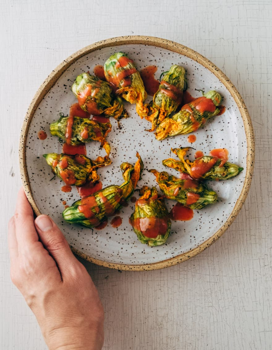 roasted squash blossoms #vegan #paleo #healthy